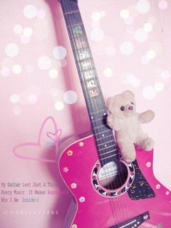 Lovely Guitar  Mobile Phone Wallpaper