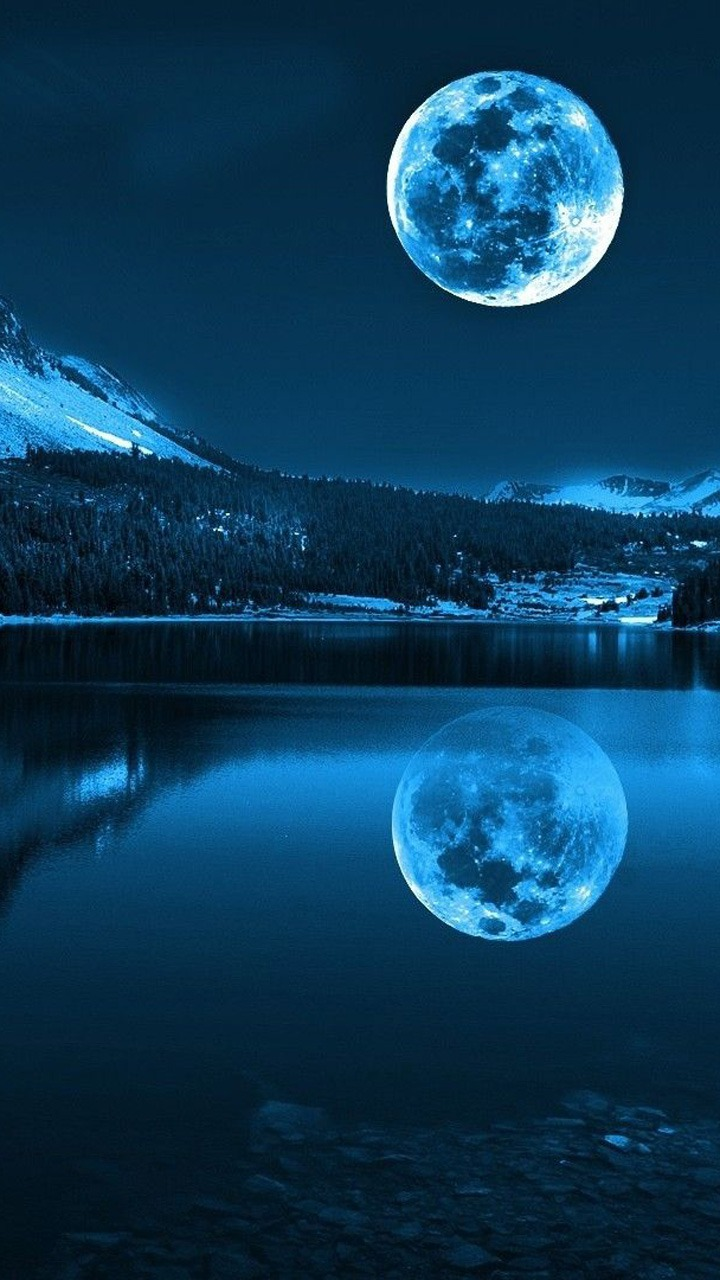 Download Free Moon Light Night mobile Mobile Phone