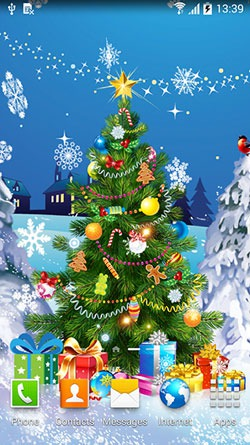 Christmas 2015 Android Mobile Phone Wallpaper