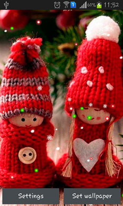 Winter: Dolls Android Mobile Phone Wallpaper