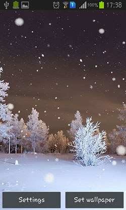 Winter Forest Android Mobile Phone Wallpaper