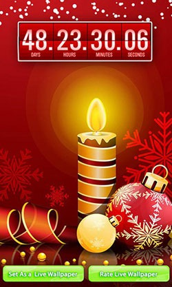 Christmas: Countdown Android Mobile Phone Wallpaper