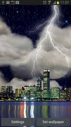 The Real Thunderstorm HD (Chicago) QMobile NOIR A10 Wallpaper