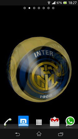 Ball 3D Inter Milan Android Mobile Phone Wallpaper