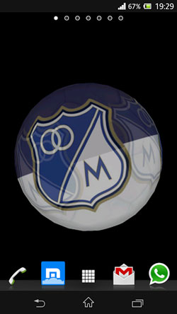 Ball 3D: Millonarios Android Mobile Phone Wallpaper