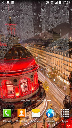Rainy Paris QMobile NOIR A10 Wallpaper