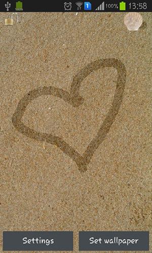 Draw On Sand QMobile NOIR A10 Wallpaper