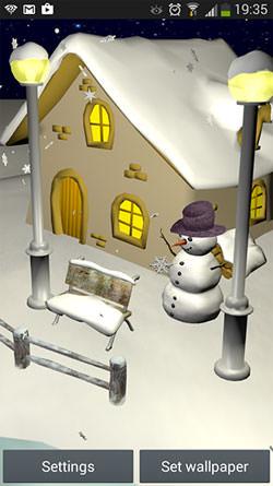 Snowfall 3D QMobile NOIR A10 Wallpaper