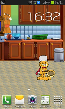 Garfield's Defense Android Mobile Phone Wallpaper