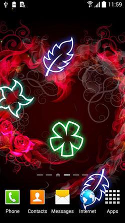 Glowing Flowers QMobile NOIR A10 Wallpaper