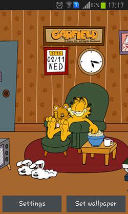 Home Sweet: Garfield QMobile NOIR A10 Wallpaper