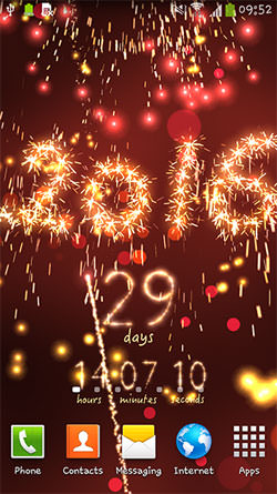 New Year: Countdown Android Mobile Phone Wallpaper