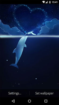 Fish And Bird: Love Android Mobile Phone Wallpaper