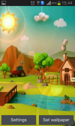 Low Poly Farm Android Mobile Phone Wallpaper