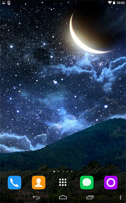 Download Moon And Stars Wallpaper  Background