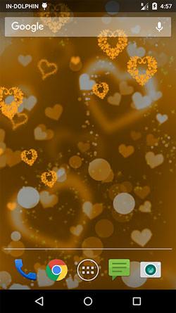 Glow Heart QMobile NOIR A10 Wallpaper