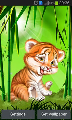 Cute Tiger Cub Android Mobile Phone Wallpaper