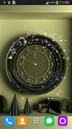 Wall Clock QMobile NOIR A10 Wallpaper