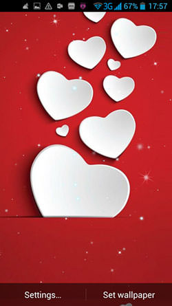 Hearts Of Love QMobile NOIR A10 Wallpaper