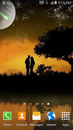 Lovers Night QMobile NOIR A10 Wallpaper