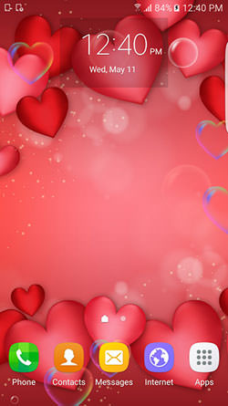 Download Free Android Wallpaper Red And Gold Love 3647 Mobilesmspk Net