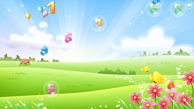 Number Bubbles For Kids Android Mobile Phone Wallpaper