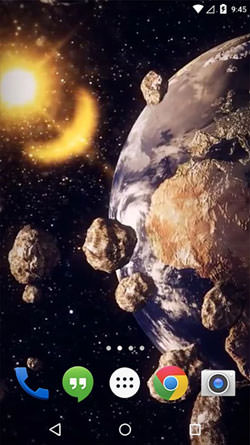 Download Free Android Wallpaper Earth Asteroid Belt