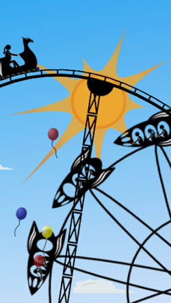 Amusement Park Android Mobile Phone Wallpaper
