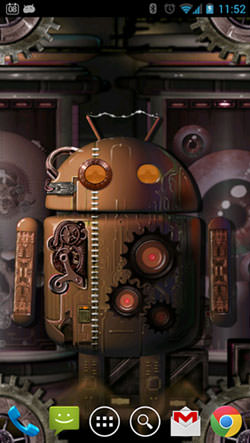 Download Free Steampunk Droid Fear Lab Android Mobile