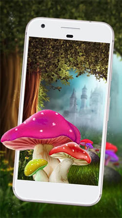 Cute Mushroom Android Mobile Phone Wallpaper