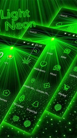 Laser Green Light Android Mobile Phone Wallpaper