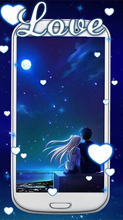 Blue Love Android Mobile Phone Wallpaper