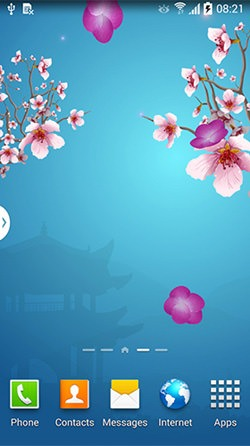 Abstract Sakura Android Mobile Phone Wallpaper