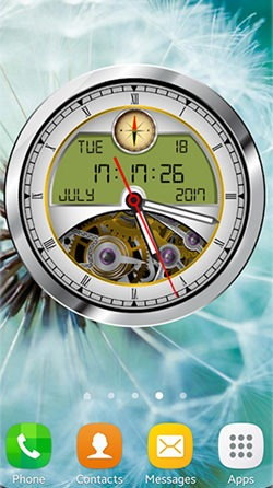 Analog Clock 3D Android Mobile Phone Wallpaper