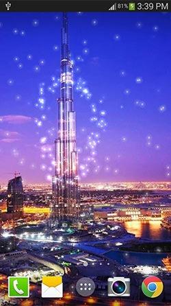 Dubai Night Android Mobile Phone Wallpaper