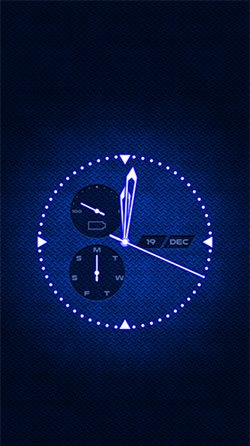 Analog Clock Android Mobile Phone Wallpaper