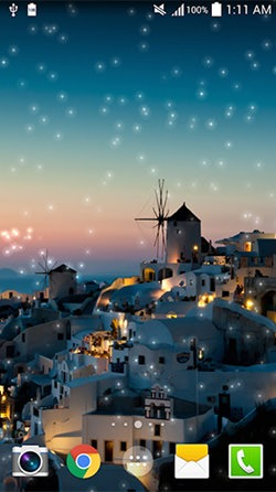 Greece Night Android Mobile Phone Wallpaper