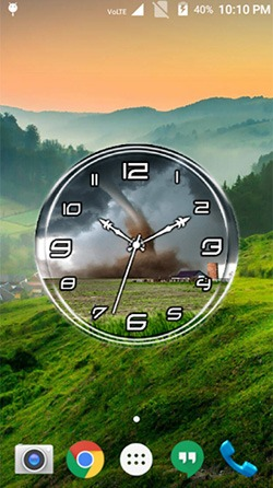 Tornado: Clock Android Mobile Phone Wallpaper