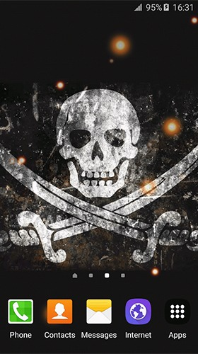 Pirate Flag Android Mobile Phone Wallpaper