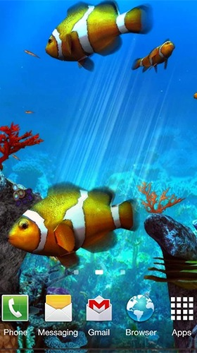Clownfish Aquarium 3D Android Mobile Phone Wallpaper