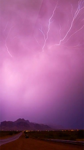 Lightning 3D Android Mobile Phone Wallpaper