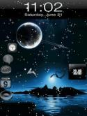 Animated Clock  Mobile Phone Wallpaper