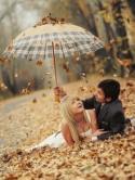 Autumn Romance  Mobile Phone Wallpaper