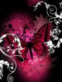 Dark Pink Butterfly  Mobile Phone Wallpaper