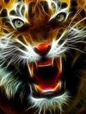 Fractal Tiger  Mobile Phone Wallpaper