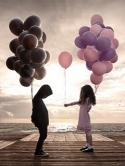 Kids And Baloons Nokia C5 5MP Wallpaper