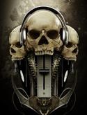 Music Skulls  Mobile Phone Wallpaper