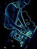 Neon Dj QMobile Hero One Wallpaper