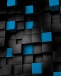 3d Black X Blue  Mobile Phone Wallpaper