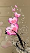 Love Hearts  Mobile Phone Wallpaper